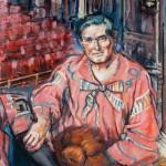 Portrait of Jimmy Logan as Dame Lizzie Trotter by June Crisfield Chapman