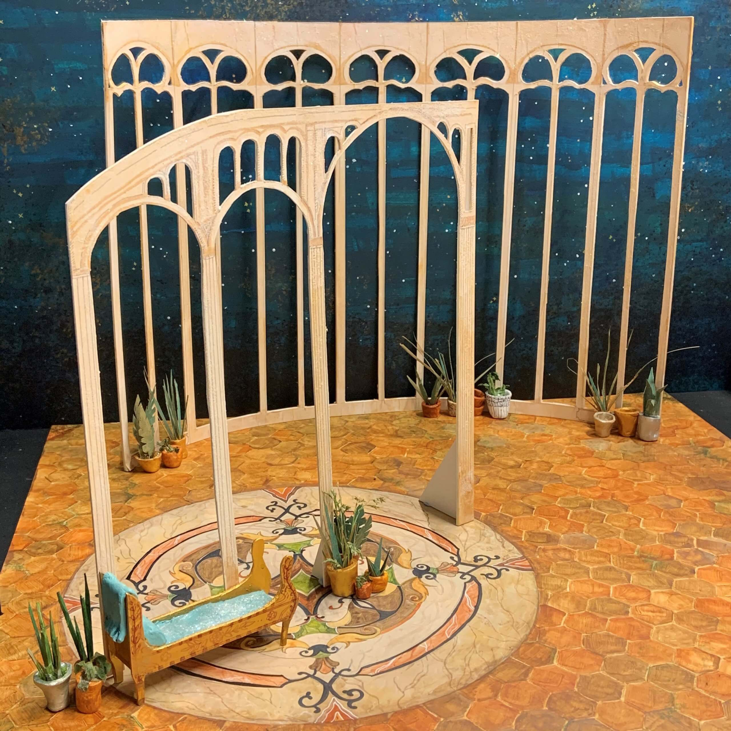 Set design for Cinderella created by Lu Herbert of the Production Arts and Design degree course