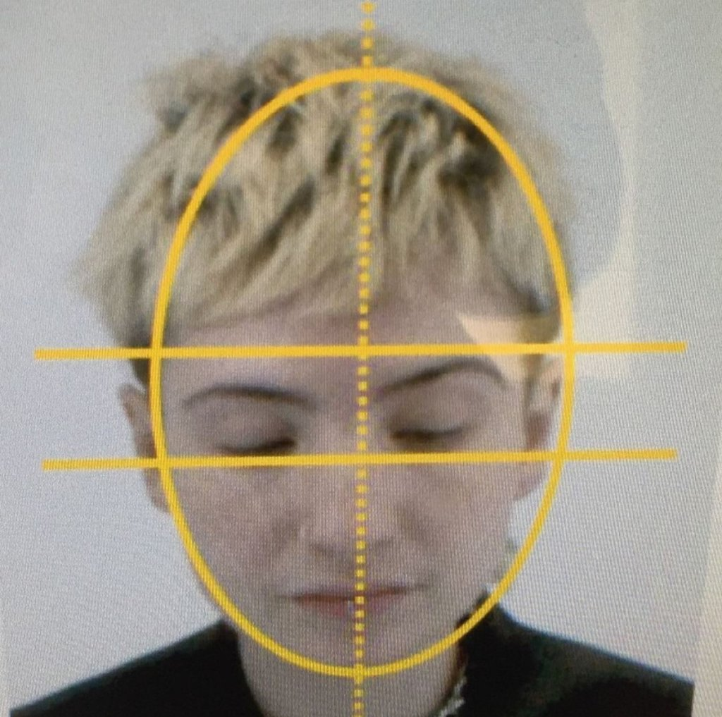 Image of composer Zeo Fawcett's face with yellow lines overlaid.