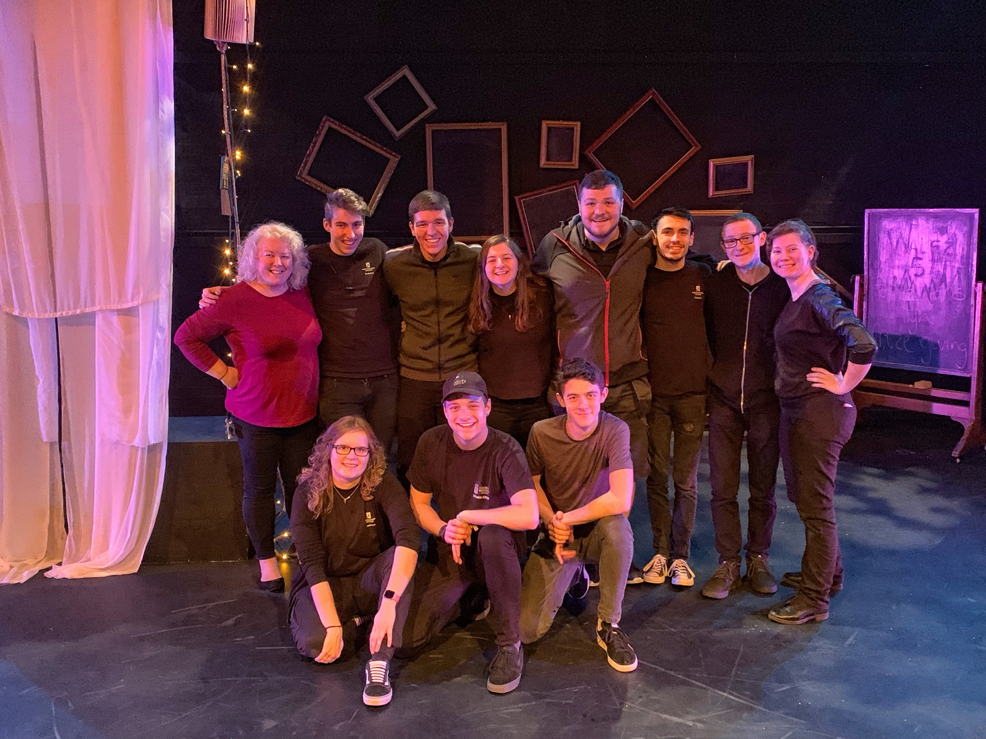Group photo of the Production team who worked behind the scenes on a Midsummer Night's Dream