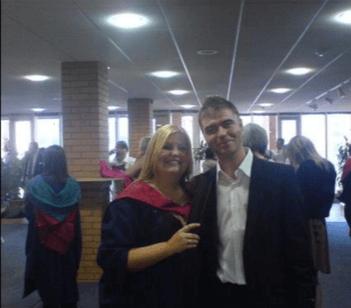Gemma Carlin, RCS Music Ensembles Manager, on her graduation day