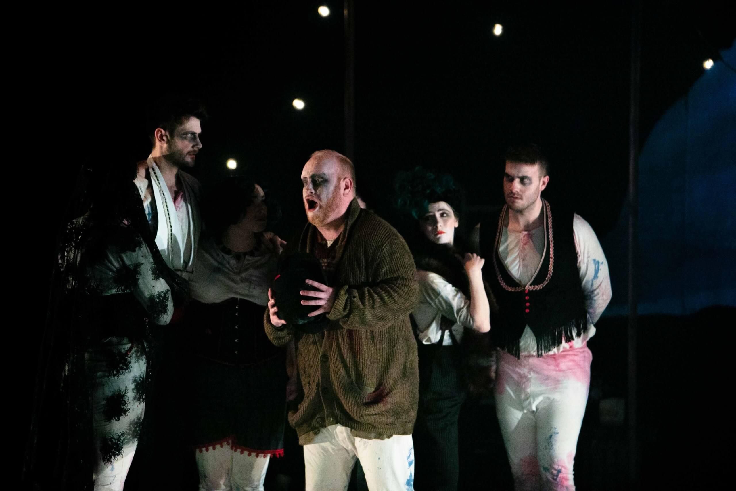 Opera student Tim Edmundson performs on stage in Gianni Schicchi