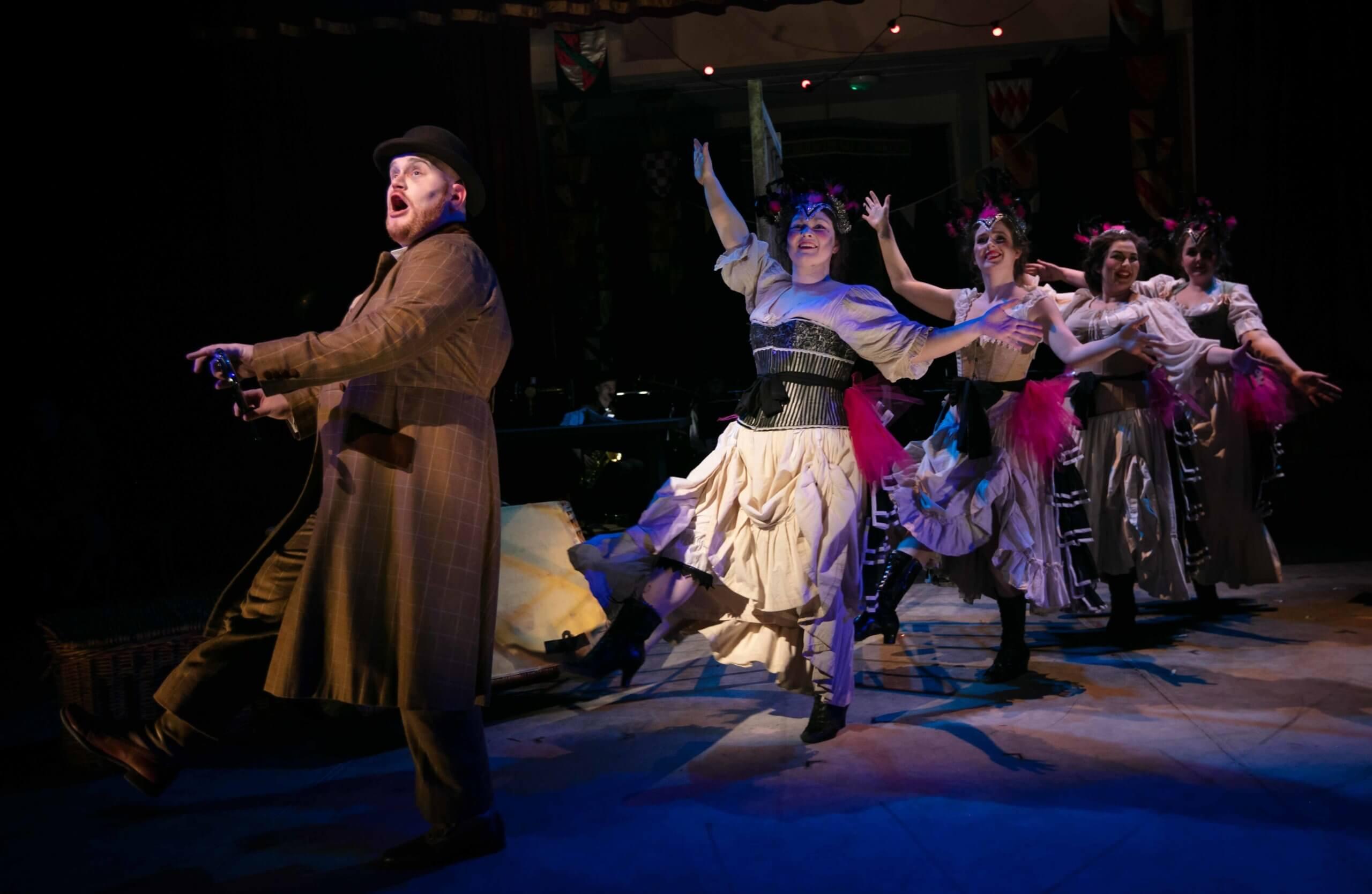 RCS Opera student Tim Edmundson as Macheath in Kurt Weill's Die Dreigroschenoper