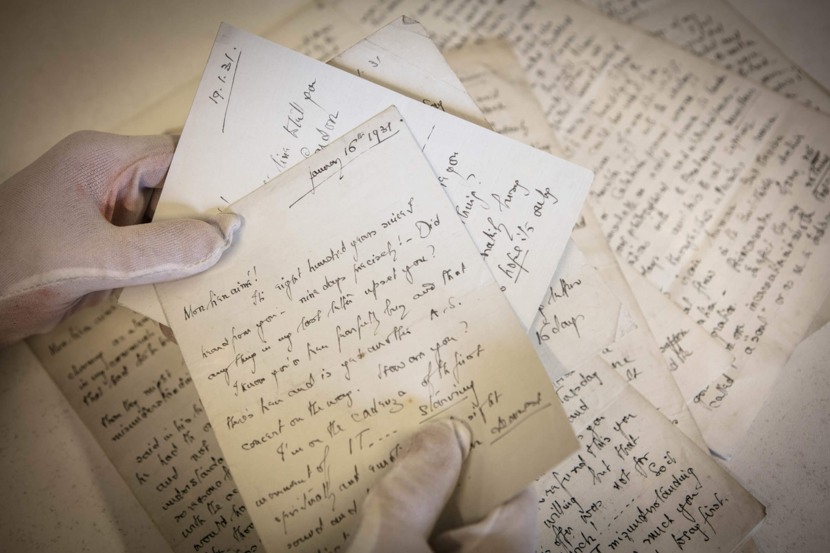 Another favourite item of Stuart's in the RCS archive is correspondence between two renowned musicians. Stuart holds letters written between the musicians Erik Chisholm who was a student and composer Kaikhosru Shapurji Sorabji in the 1930s.
