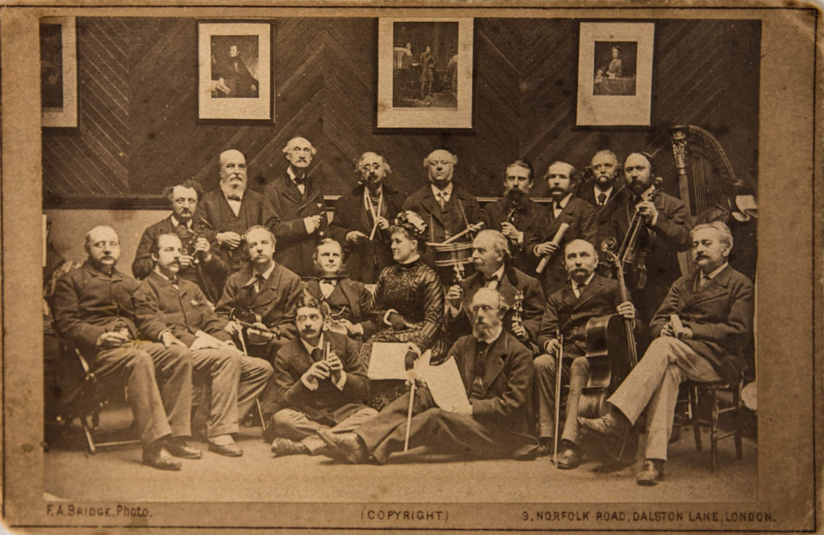 One of Stuart Harris-Logan's favourite items in the RCS archive is a  photograph from a performance of the Toy Symphony in London in 1880 signed by all the performers including Carl Rosa and Arthur Sullivan of Gilbert and Sullivan fame. They're pictured in a drawing room setting with everyone holding their instruments.