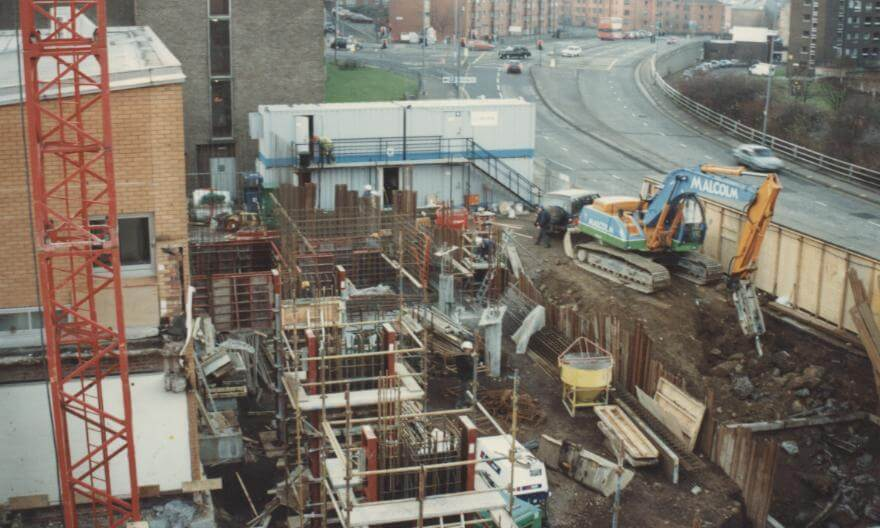 From the RCS Archives: the construction of the RCS Alexander Gibson Opera School in 1996