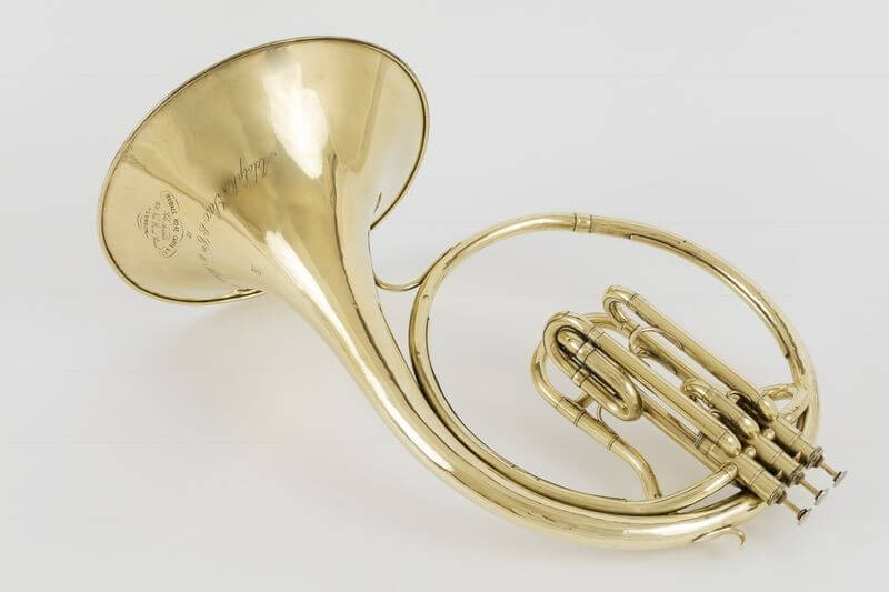 The RCS Archive is home to a a French horn dating from 1853 and designed and manufactured by Belgian inventor and musician Adolphe Sax.