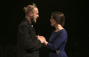 Anna Russel Martin and Jack Simpson perform Coriolanus