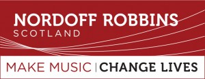 Nordoff - Landscape Tagline Logo - Red