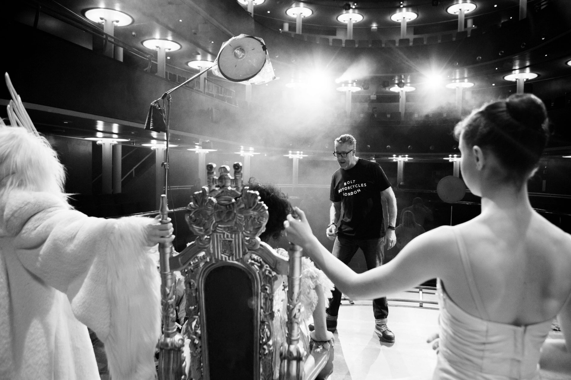 Photographer Guy Farrow on stage
