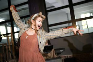 RCS Musical Theatre graduate Bethany Tennick performs during her studies in SideShow at West Brewery