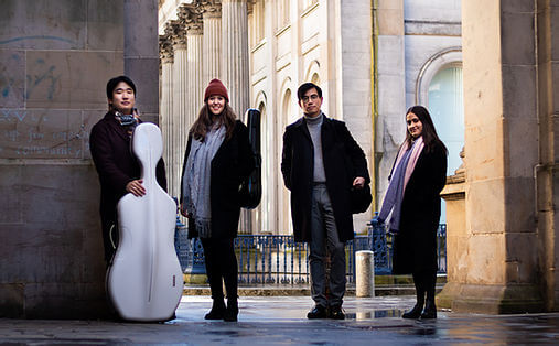Resol Quartet pictured at the Gallery of Modern Art in Glasgow